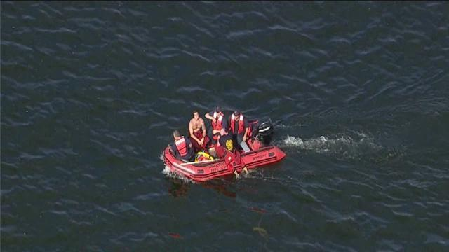 Search for missing swimmer