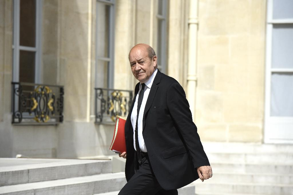 French Defence minister Jean-Yves Le Drian arrives at the Elysee palace, on June 27, 2015, in Paris (AFP Photo/Alain Jocard)