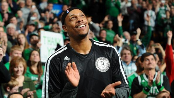 RADIO: Paul Pierce showered with love in return to Boston