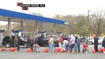 Long lines for gas in Sandy's aftermath