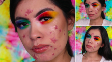 Make-up artists kicks off acne acceptance movement by turning her spots into beautiful stars