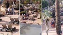 Hundreds of guests in coronavirus-hit hotel in Tenerife ignore quarantine to lie on sunbeds