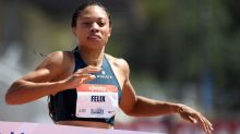 Allyson Felix runs her fastest 400m in four years