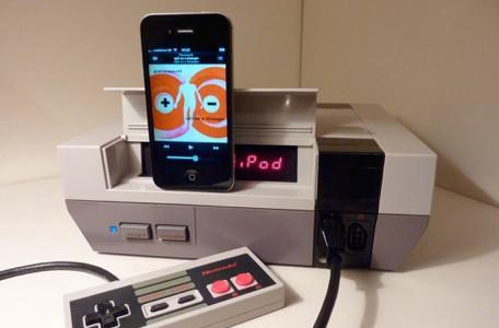 NES cleverly turned into an iPhone speaker dock