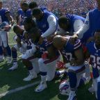 NFL teams respond to Trump with nonparticipation, kneeling in protest