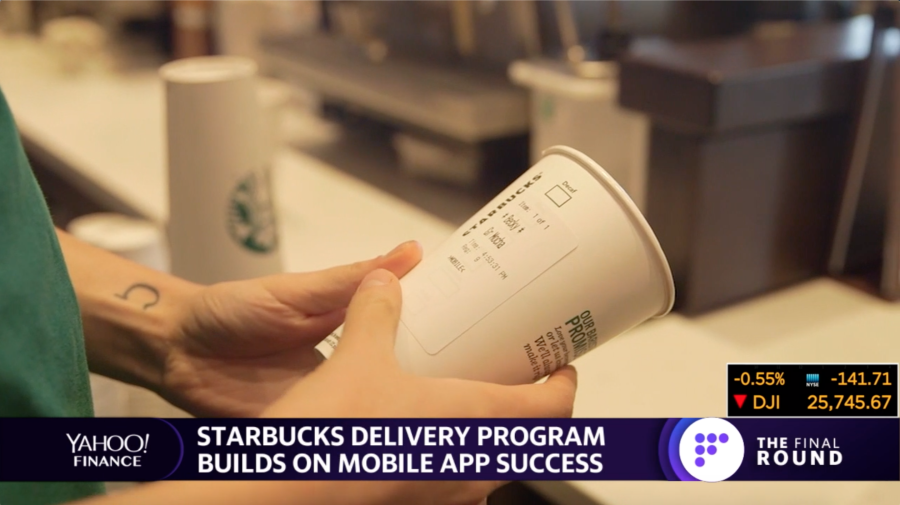 Starbucks touts its delivery & upgraded rewards programs