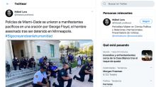 Policías arrodillados en recuerdo a George Floyd y otros gestos uniformados que unen contra el racismo en EEUU