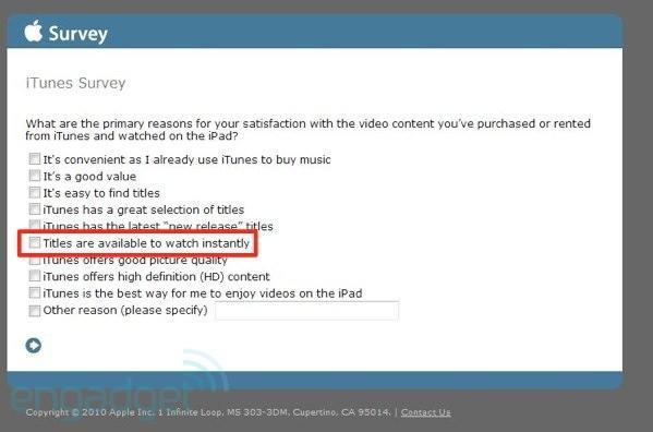 Apple survey hints at iTunes streaming video service coming soon?