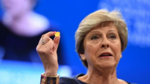 What was Theresa May wearing on her wrist?
