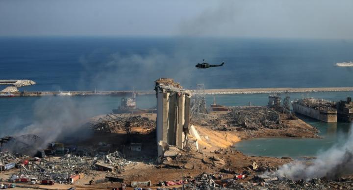 貝魯特驚天爆前後對比 港區幾乎全毀