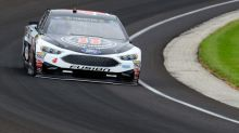 NASCAR revokes Harvick's spotter's credential after sandwich falls off Indy Pagoda