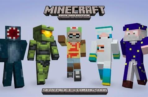 Minecraft XBLA Skin Pack also includes Master Chief