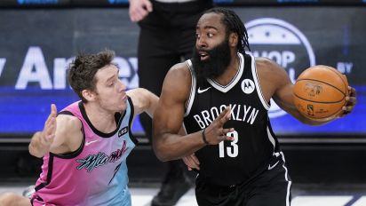 Nets (finally) get first win with new Big 3