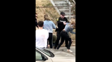 Police officer who punched woman in the face during St. Patrick's Day brawl is under investigation