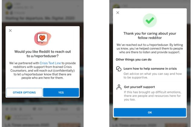 Reddit lets users support one another with Crisis Text Line partnership