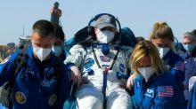 Dos cosmonautas rusos y una astronauta de la NASA retornan a tierra de la ISS