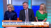 News Feed: Women prefer shopping to sex