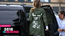 See the top 10 fashion controversies of 2018, from Melania Trump's jacket to D&G's runway fiasco