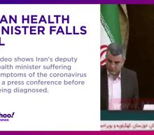 Iran health minister falls ill on camera