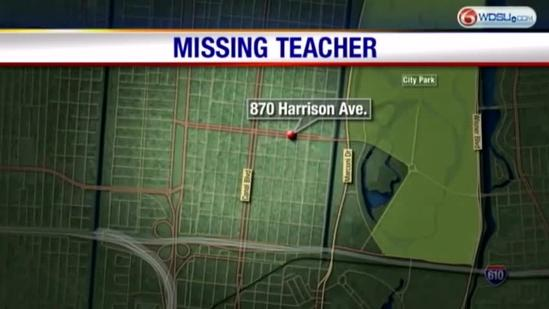 Family and friends search for missing teacher