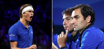 Laver Cup star hails 'coaches' Federer and Nadal