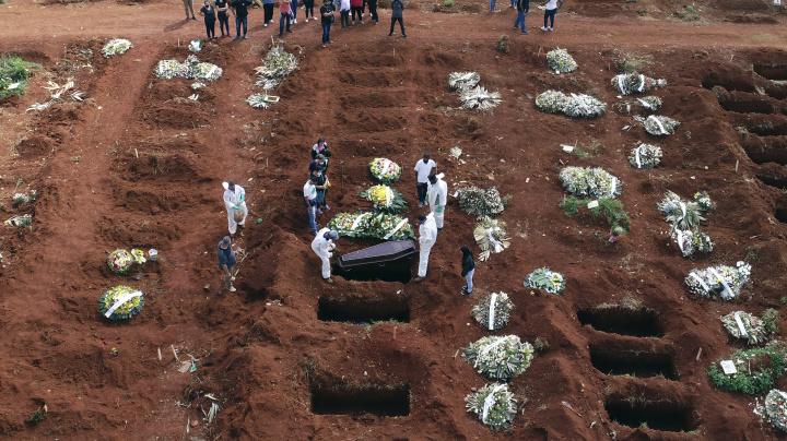 Covid-19: Brasil registra 2.616 mortes em 24 horas