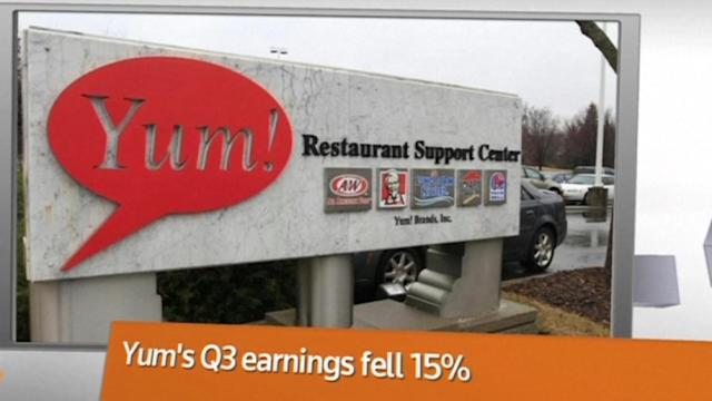 Yum profits sink and so does the stock