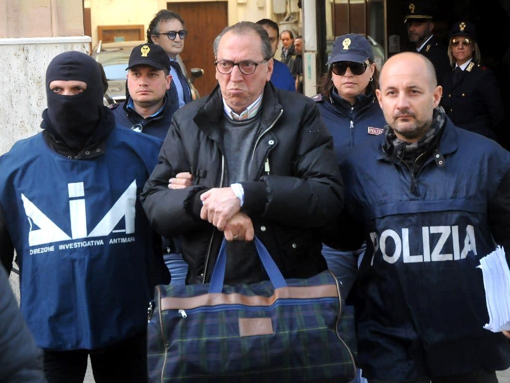 Cosa Nostra kingpin Matteo Messina Denaro's brother-in-law, Rosario Allegra, was arrested Thursday (AFP Photo/ALESSANDRO FUCARINI)