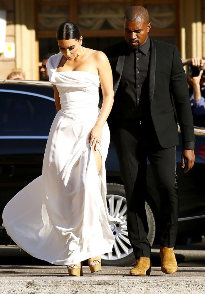Kim Kardashian and Kanye West celebrated their 2nd anniversary in Rome. (Photo: Ernesto Ruscio/Getty Images)