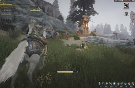 This is how mounted combat looks in Black Desert