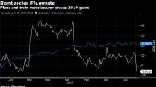 Bombardier Tumbles as New Rail Woes Force Cut to Outlook