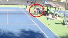 'Aggressive' handshake sparks fight between tennis pros