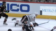 NHL referee Tim Peel fractures ankle in collision with Blackhawks' Jonathan Toews