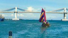 2 pre-colonial boat replicas arrive in Lapu-Lapu City
