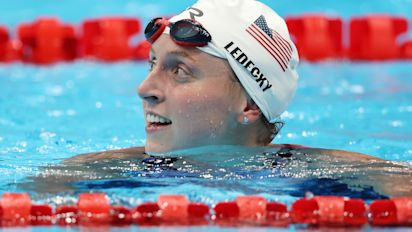 Let's not rush Ledecky off the medal stand yet