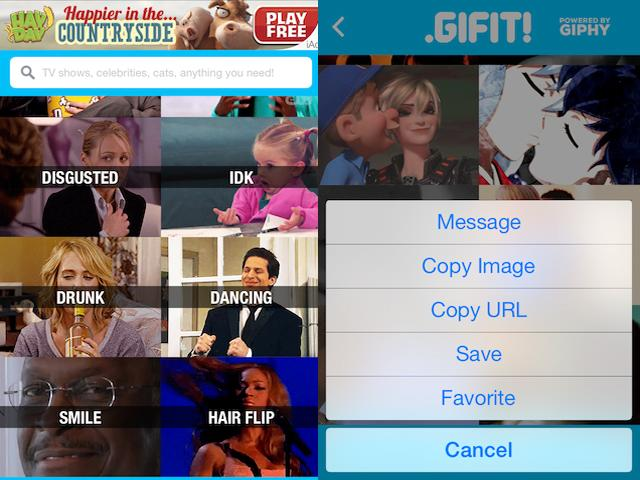 Gifit puts a library of GIFs in your pocket without taking up space