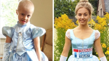 The sweet reason this teenager ran a half-marathon in a Cinderella dress