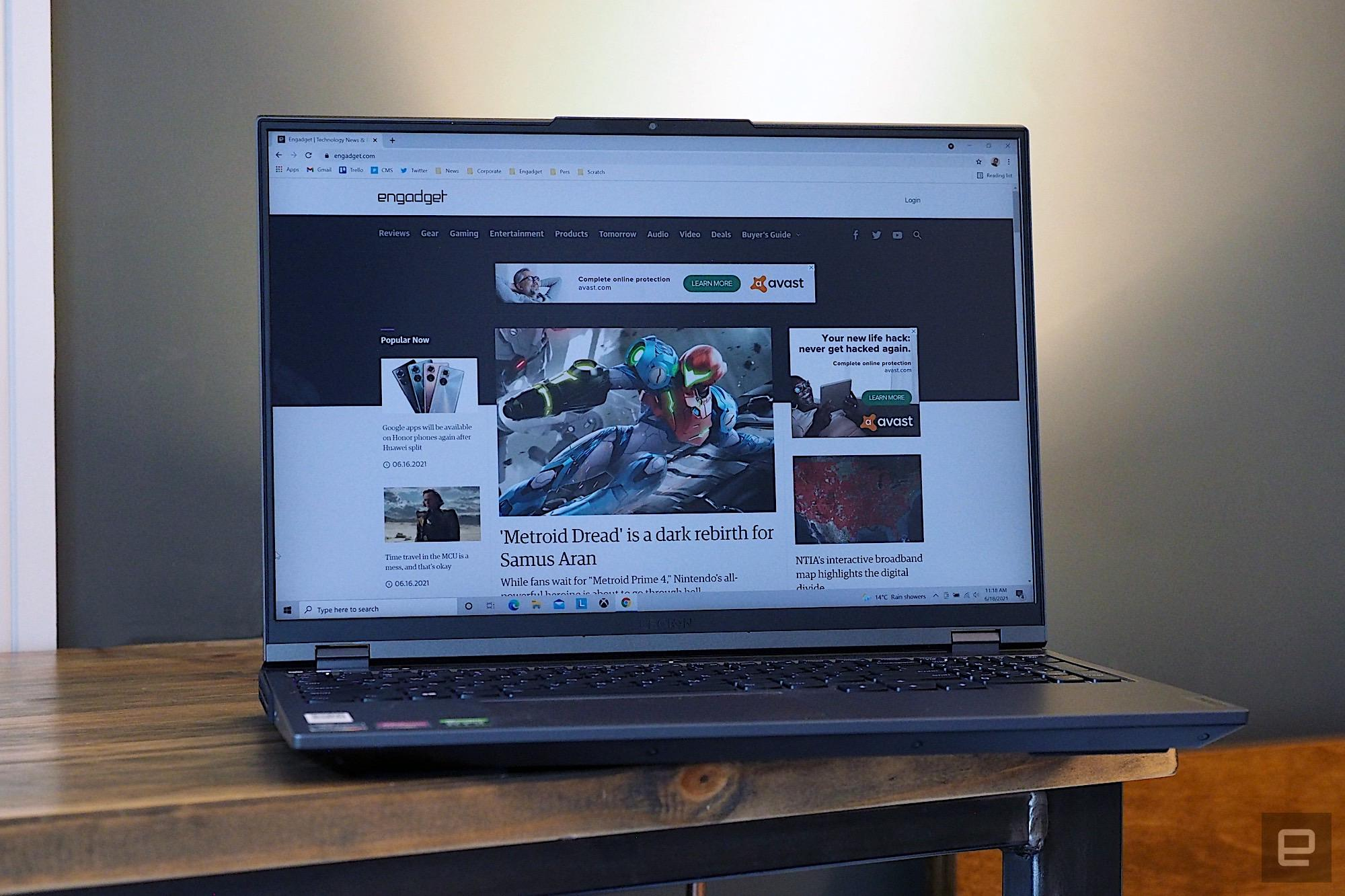 Review image of the new Lenovo Legion 5 Pro (2021)