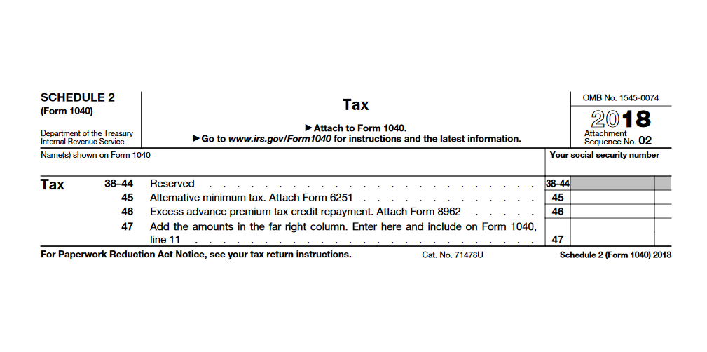 2020 Form 1040 Schedule 2.Irs Schedule 2 Will You Owe Extra Tax