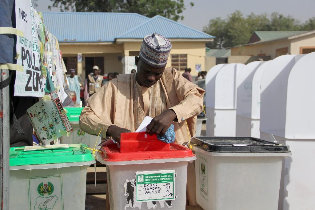 The attack on Maiduguri took place just two hours before voting stations opened (AFP Photo/AUDU ALI MARTE)