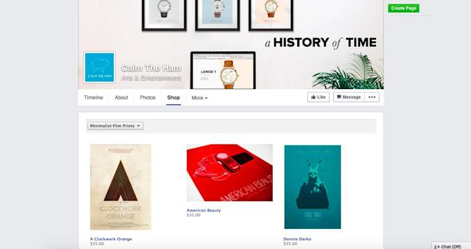 Buy items right from their Facebook pages with the new Shop section