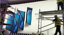 #LeakPeek: Huawei Mate X 5G foldable phone spotted on billboard