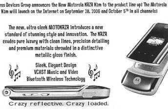 Motorola KRZR K1m launches today on Verizon