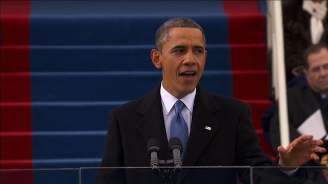 Obama stresses equality, unity in inaugural address