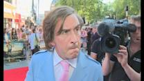 Alan Partridge feels 'pretty creamy' at Alpha Papa premiere
