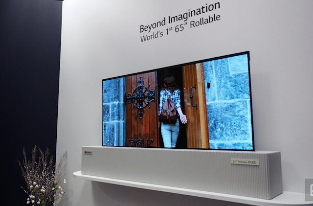 LG Display's giant rollable OLED TV is indistinguishable from magic