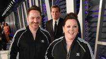 Melissa McCarthy and her husband twinned in Adidas tracksuits at the Oscars after-party