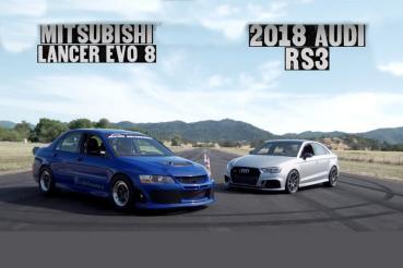 當年王者Mitsubishi Lancer EVO 8對決新科技Audi RS 3