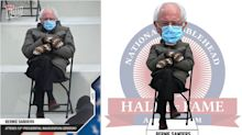 The Bernie Sanders Inauguration Day meme is now becoming a baseball card and bobblehead