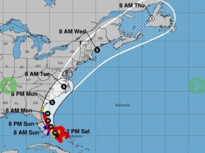 The governors of Virginia and North Carolina have issued states of emergency as Tropical Storm Isaias churns toward Florida.